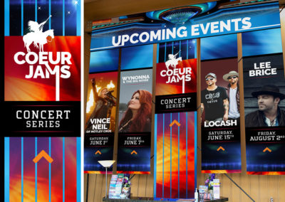 Coeur d'Alene Casino event banners