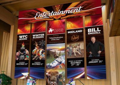 Coeur d'Alene Casino entertainment event banners