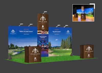 Circling Raven Golf Club display