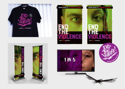 End the Violence brand campaign