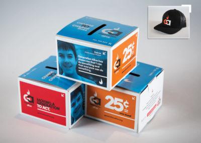 Generation Alive brand & donation Box