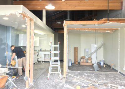 AmpliFi headquarters, tearing down walls in entrance